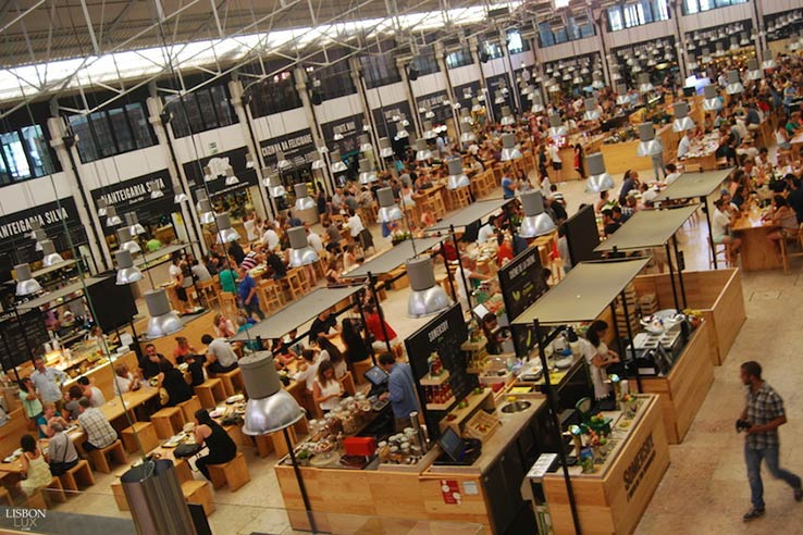 Fly to Lisbon, visit Mercado do Ribeira.