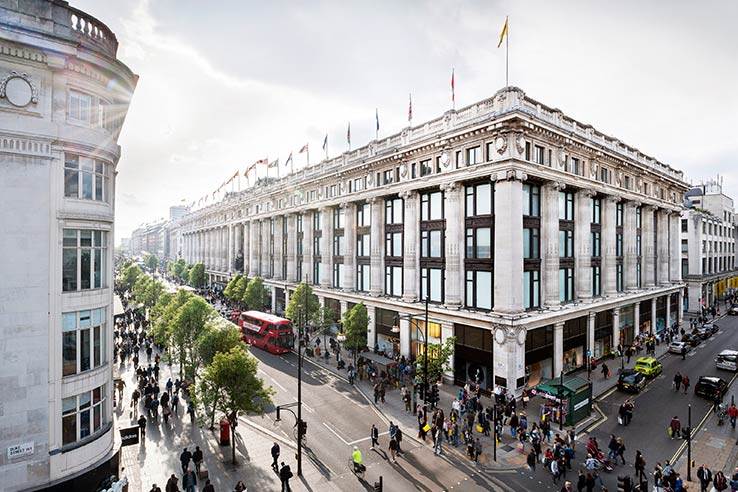 Fly til London, besøk Selfridges